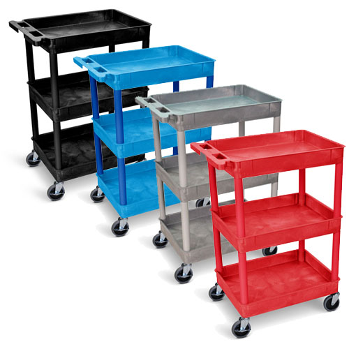 Luxor Tub Cart - Three Shelves - STC111 (4 Colors Available)