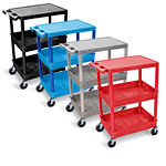 Luxor Flat Top and Tub Middle/Bottom Shelf Cart - STC211 (4 Colors Available) ET10508