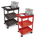 Luxor Tub Cart - Three Shelves and Bottle Holder - STC111H (3 Colors Available) ET10510