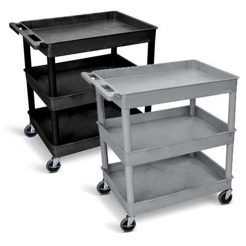 Luxor Large Tub Cart - Three Shelves - TC111 (2 Colors Available)