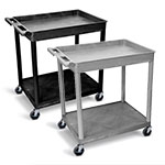 Luxor Large Top Tub and Flat Bottom Shelf Cart - TC12 (2 Colors Available) ET10515