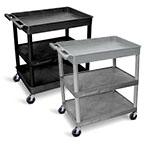 Luxor Large Tub Top and Flat Middle/Bottom Shelf Cart - TC122 (2 Colors Available) ET10517