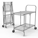 Luxor Two-Shelf Collapsible Wire Utility Cart - WSCC-2 ET10524