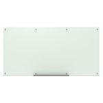 "Luxor 96""W x 48""H Magnetic Wall-Mounted Glass Board - WGB9648M ET10529"