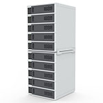 Luxor 10-Bay Charging Locker for Mobile Devices - LLTSW10-G ET10534