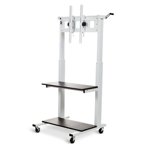 Luxor Crank-Adjustable Flat Panel TV Cart - CLCD