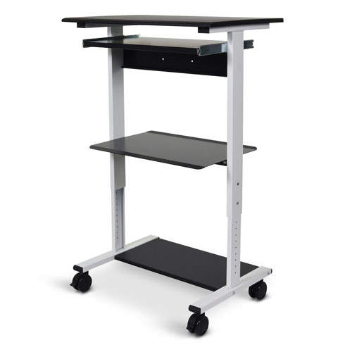 Luxor Three-shelf Adjustable Stand Up Workstation - STAND-WS30