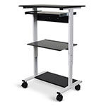 Luxor Three-shelf Adjustable Stand Up Workstation - STAND-WS30 ET10548