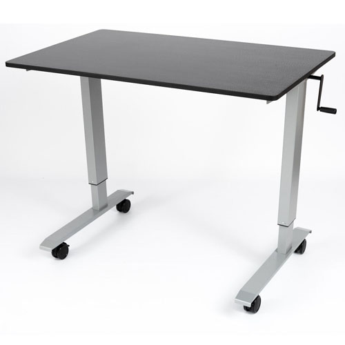 "Luxor 48"" High Speed Crank Adjustable Stand Up Desk - STANDCF48-AG/BO"