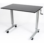 "Luxor 48"" High Speed Crank Adjustable Stand Up Desk - STANDCF48-AG/BO ET10549"