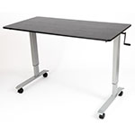 "Luxor 60"" High Speed Crank Adjustable Stand Up Desk - STANDCF60-AG/BO ET10550"