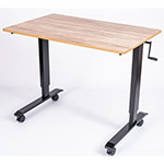 "Luxor 48"" High Speed Crank Adjustable Stand Up Desk - White Oak - STANDCF48-BK/WO ET10553"