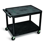 "Luxor 27""H AV Cart - Two Shelves - LE27-B ET10559"