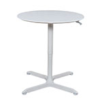 "Luxor 32"" Pneumatic Height Adjustable Round Cafe Table - LX-PNADJ-32RD ET10699"