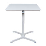 "Luxor 32"" Pneumatic Height Adjustable Square Cafe Table - LX-PNADJ-32SQ ET10700"
