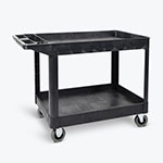 Luxor Two-Shelf Heavy-Duty Utility Cart with SP5 Casters - XLC11SP5-B ET10712