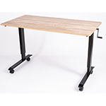 "Luxor 60"" High Speed Crank Adjustable Stand Up Desk - STANDCF60-BK/WO ET10554"