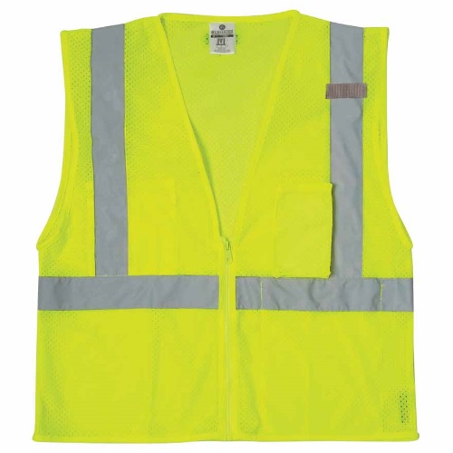 ML KISHIGO Ultra-Cool Mesh 3-Pocket Safety Vests - Lime (8 Sizes Available)