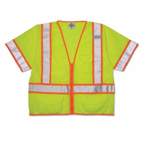 ML KISHIGO Ultra-Cool Mesh 6 Pocket Class 3 Surveyor's Vest - Lime (8 Sizes Available)