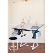 Martin Universal Design Martin Ashley Creative White Hobby Table with Stool U-DS92ST ES3861