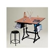 Martin Universal Design Martin Ashley Black Creative Hobby Table with Stool U-DS92STB ES3862