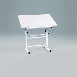 "Martin Universal Design Martin Bel Aire Neuvo Table Base with Martin White Top, 30"" x 42"" U-DS3100C"