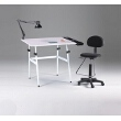 Martin Universal Design Martin Berkeley 4-pc Combo White w/ White Top, Tray Lamp and Drafting Chair 4-pc Combo U-DS14041WH ES3875