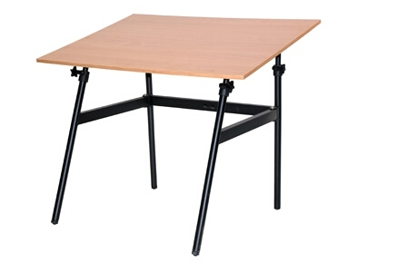 "Martin Universal Design Martin Berkeley Classic Black Base with 30"" x 42"" Cherry wood C Top U-DS1404CW ES3893"