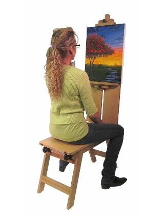 Martin Universal Design Martin Rolling Wooden Bench Style Easel 92-3050 ES4024