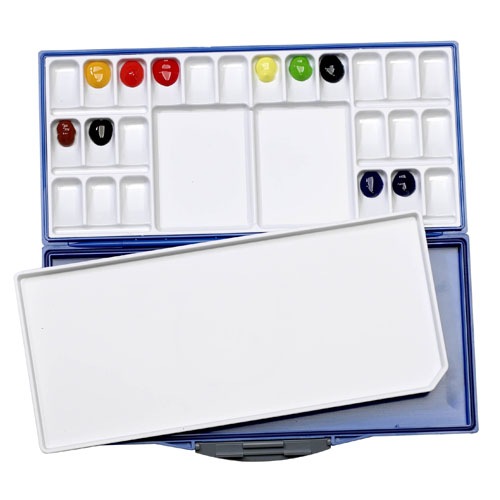 Martin Universal Design Mijello Airtight Leak Proof Fusian Watercolor 24 color Palette 92-WP3024B ES4060