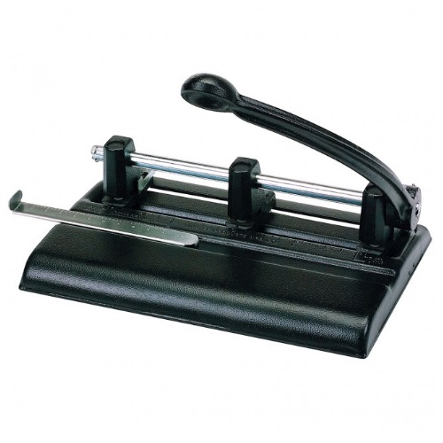 Martin Yale 1340PB - Master Adjustable Hole Punch with Lever Handle - 13/32 Hole Diameter