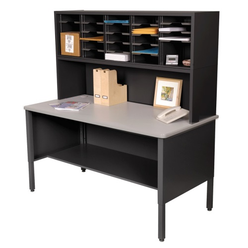 Marvel Mailroom Furniture 25 Slot Literature Organizer with Shelf (3 Colors Available)