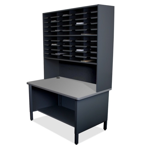 Marvel Mailroom Furniture 40 Slot Literature Organizer with Shelf (3 Colors Available)