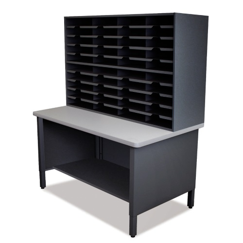 Marvel Mailroom Furniture 40 Slot Organizer with Shelf - Without Riser (3 Colors Available)