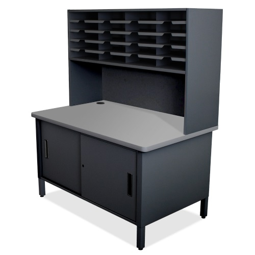 Marvel Mailroom Furniture 20 Slot Literature Organizer with Cabinet (3 Colors Available)