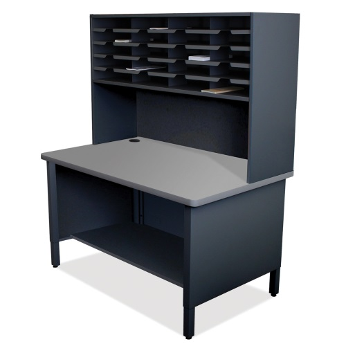 Marvel Mailroom Furniture 20 Slot Literature Organizer with Shelf (3 Colors Available)