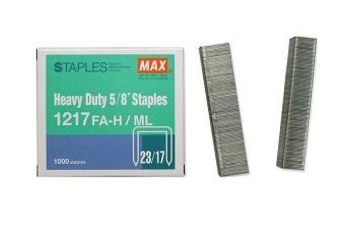 Max Flat-Clinch Heavy-Duty Staples MXB1217FAH ES8844