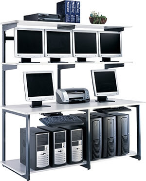 "Mayline eLAN Computer Racking Series 72"" LAN Station 21172EZ"