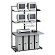 "Mayline Maytrix LAN Racking Series 48"" Maytrix Console 31148 (Gray Frame and Shelves, Fog Gray Work Surface, Ice Grey Edging) ES4731"