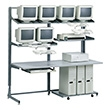 "Mayline Maytrix LAN Racking Series 72"" Deluxe Maytrix 31172 (Gray Frame and Shelves, Fog Gray Work Surface) ES4732"
