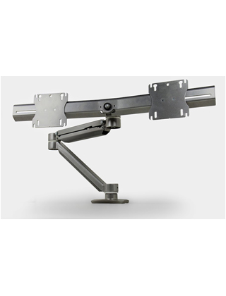 Mayline Desk-Mounted Dual Screen, Single Monitor Arm EZKE2 ES5780