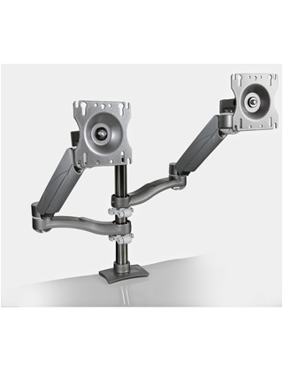 Mayline Pole-Mounted, Dual Arm Monitor Mount EZKC2 ES5782