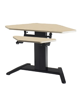 "Mayline E Series 605W - 42"" x 30"" Corner Dual Surface with Data Center Height Adjustable Desk ES6606"