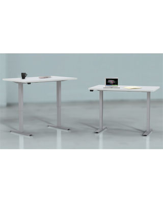 "Mayline ML Series 5223060H - 60"" x 30"" Rectangular 2 Stage Height Adjustable Table - 3mm Edge ES6617"