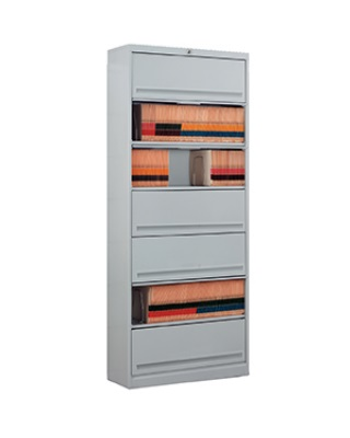 Mayline FFD7 - High Density Flip 'N File 7 Tier Cabinet with Doors ES6631