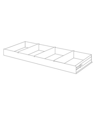 Mayline MRD362 - High Density File Harbor - Roll-Out Drawer with Dividers ES6658