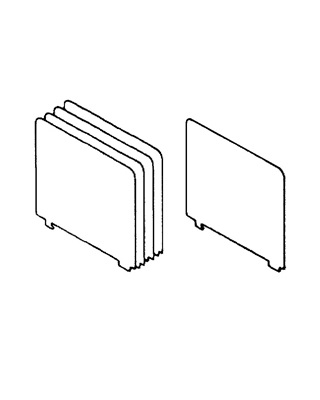 Mayline D09GS03 - High Density File Harbor - Dividers ES6664