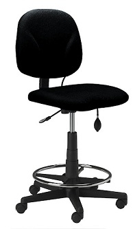 Mayline Comfort Series Swivel Task Stool 4005AG
