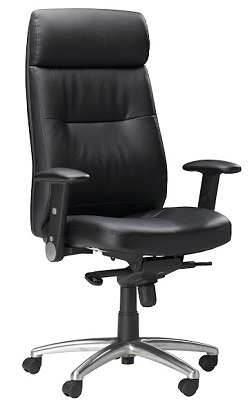Mayline Pivot Arm Chair FLBLK