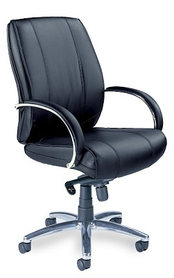 Mayline Optima Mid-Back Chair OPMBLK